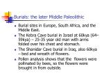 burials the later middle paleolithic