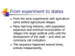 from experiment to states