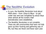 the neolithic evolution