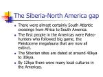the siberia north america gap