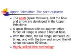 upper paleolithic the pace quickens