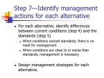 step 7 identify management actions for each alternative