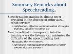 summary remarks about speechreading28