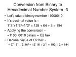 conversion from binary to hexadecimal number system 3
