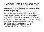 decimal data representation11