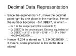 decimal data representation13