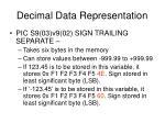 decimal data representation5
