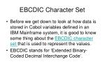 ebcdic character set