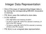 integer data representation