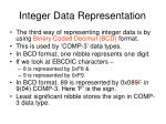 integer data representation11