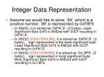 integer data representation2