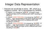 integer data representation4
