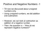 positive and negative numbers 1