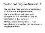 positive and negative numbers 2