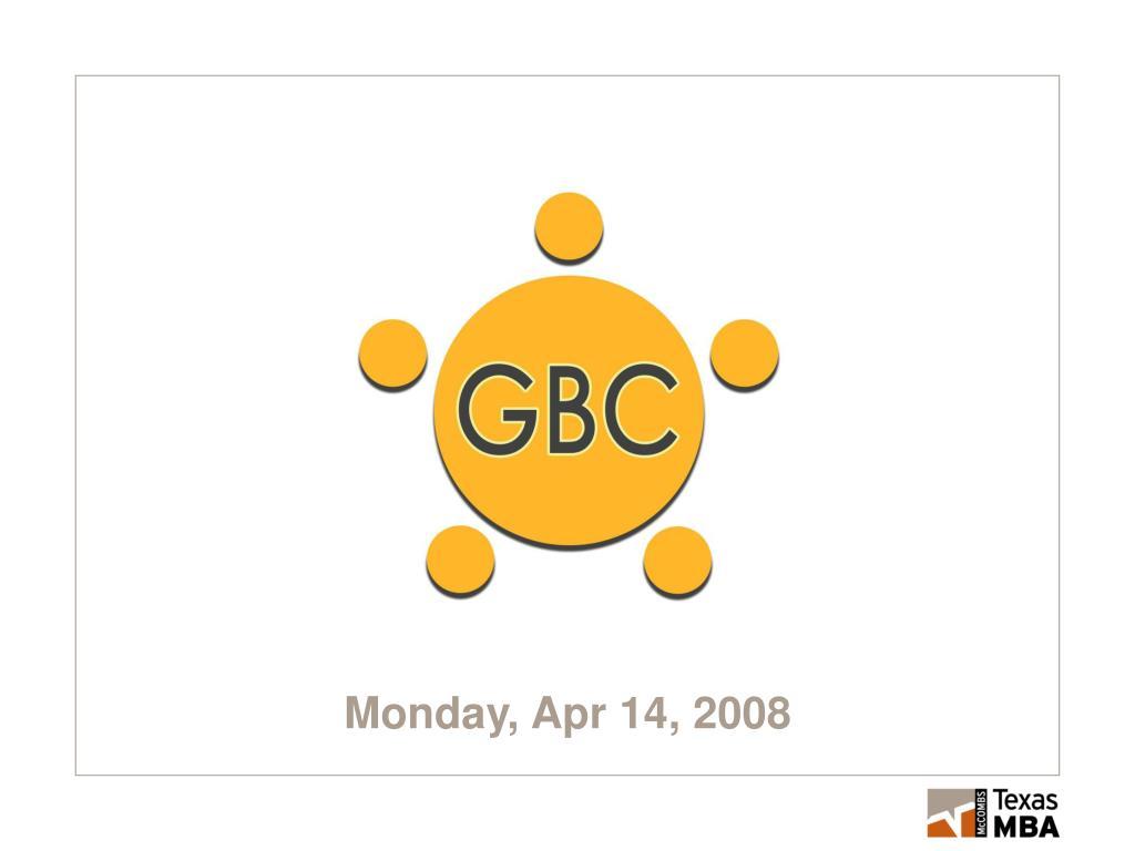 monday apr 14 2008 l.