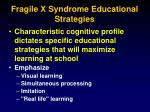 fragile x syndrome educational strategies