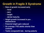 growth in fragile x syndrome