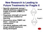 new research is leading to future treatments for fragile x