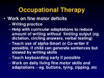 occupational therapy47