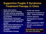 supportive fragile x syndrome treatment therapy in clinic