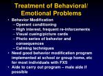 treatment of behavioral emotional problems