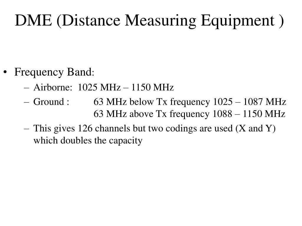 dme distance measuring equipment l.