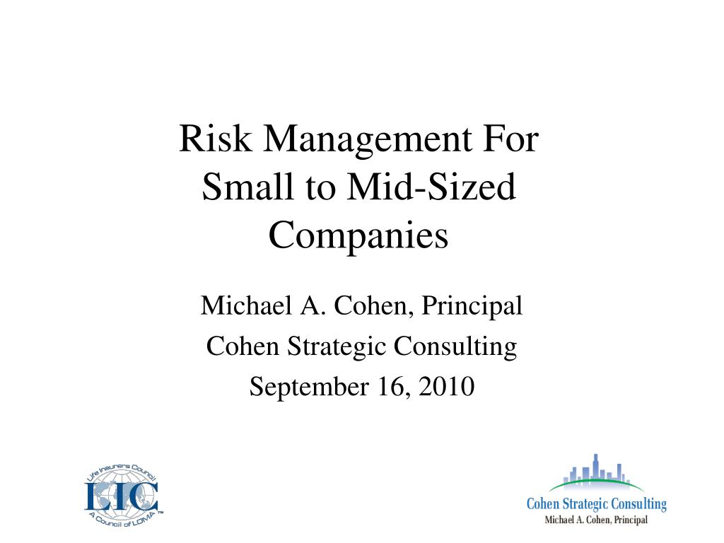 risk management for small to mid sized companies l.