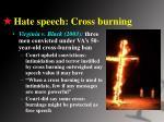 hate speech cross burning
