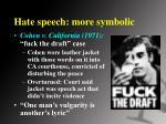 hate speech more symbolic