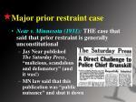 major prior restraint case
