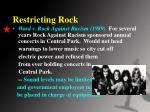 restricting rock