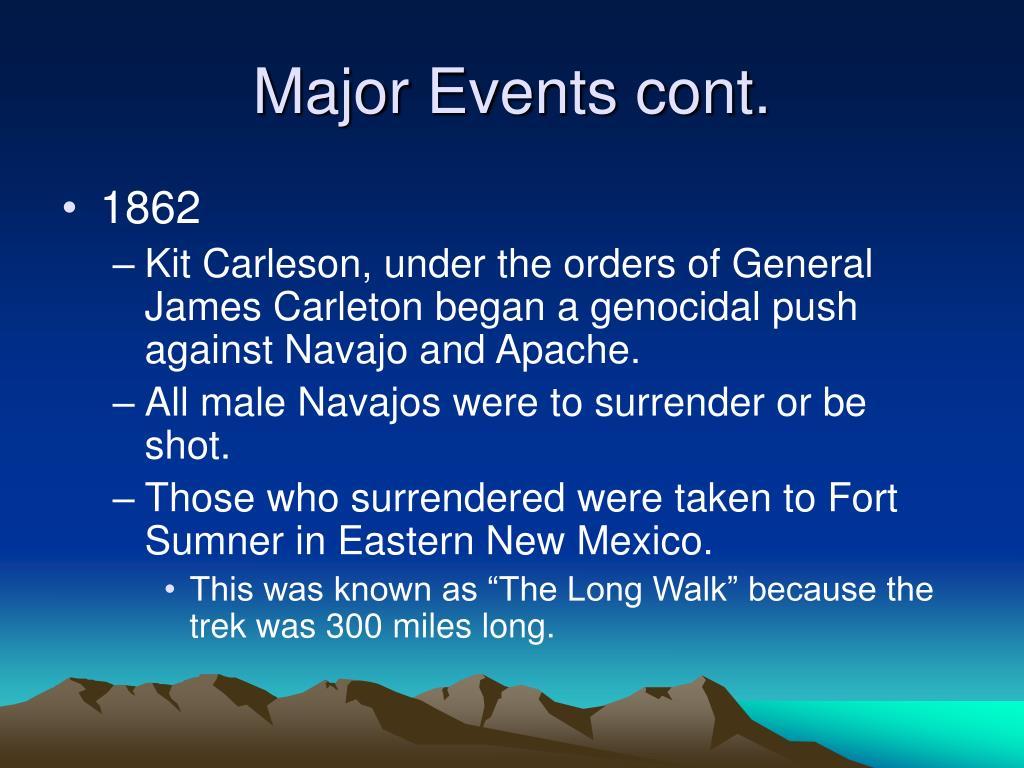 Major Events cont.