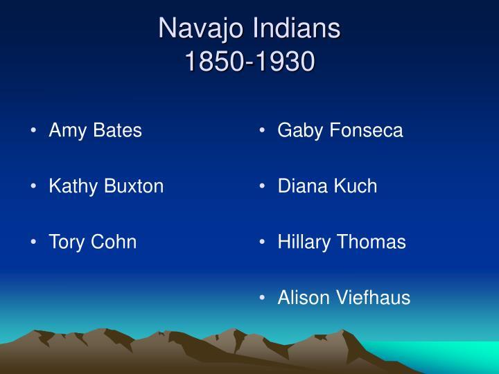 Navajo indians 1850 1930