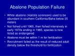 abalone population failure