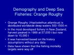 demography and deep sea fisheries orange roughy
