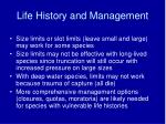 life history and management47