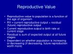 reproductive value