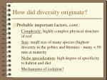 how did diversity originate36