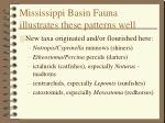 mississippi basin fauna illustrates these patterns well48