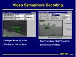 video semaphore decoding