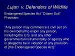 lujan v defenders of wildlife