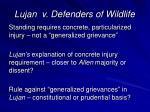lujan v defenders of wildlife41