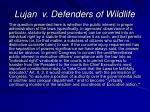 lujan v defenders of wildlife42