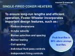 single fired coker heaters