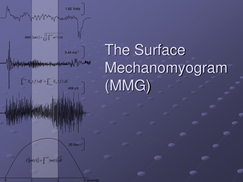 the surface mechanomyogram mmg l.
