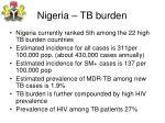 nigeria tb burden