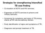 strategies for strengthening intensified tb case finding