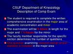 csuf department of kinesiology description of comp exam26