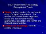 csuf department of kinesiology description of thesis
