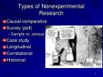 types of nonexperimental research